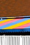 Betegeld dak en het afbaarden Stock Afbeeldingen