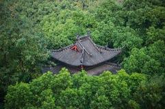 Betegeld Dak in het Park, Hangzhou, China stock afbeelding