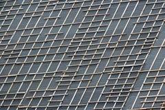 Betegeld dak met het draaien stock foto