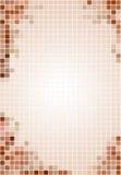 Betegelde bruine & beige achtergrond Royalty-vrije Stock Foto's
