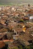 Betegelde daken van Spanje, Puigcerda Stock Afbeelding