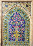 Betegelde muur Stock Fotografie