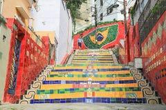 Betegelde Stappen bij lapa in Rio de Janeiro Brazil stock afbeeldingen