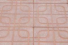 Betegelde steenbestrating van de weg Stock Afbeelding