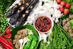 Beteken Spaanse peper, het voedsel van Thai royalty-vrije stock afbeelding