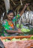 Betel πωλητής φύλλων στο Μιανμάρ Στοκ Φωτογραφία