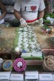BETEL LEAFES DEL MERCADO DE ASIA MYANMAR RANGÚN Imagen de archivo