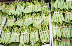 Betel leaves at a market in Myanmar Stock Image