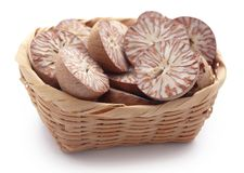 Betel nut. S in a basket over white background Royalty Free Stock Photo