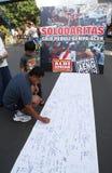 Beten Sie für Aceh Stockfotos