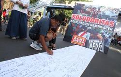 Beten Sie für Aceh Stockfotografie
