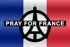 Beten Sie für Frankreich Lizenzfreie Stockfotografie