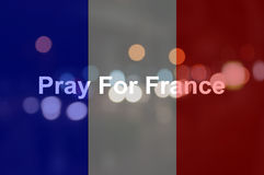 Beten Sie für Frankreich Lizenzfreies Stockfoto