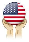 Beten Sie für Illustration der Vereinigten Staaten von Amerika Stockfoto
