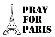 Beten Sie für Paris Stockbilder