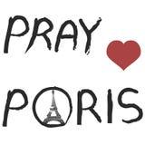 Beten Sie für Paris-Hintergrund Stockbilder