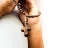 Beten Sie zum Gott Stockfotografie