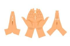 Betende Hände der Religion vektor abbildung