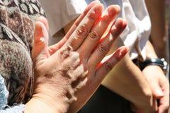 Betende Hände in Japan Stockbilder