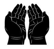 Betende Hand vektor abbildung