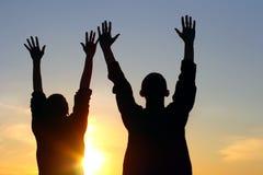 Betende Leute Lizenzfreies Stockfoto