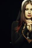 Betende Nonne Stockfotos