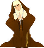 Betende Nonnen vektor abbildung