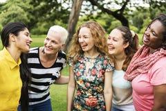 Beter samen Toevallige Vrouwelijke Vrouwelijkheid Dame Concept Royalty-vrije Stock Fotografie
