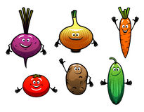 Beterraba, cebola, cenoura, tomate, batata Foto de Stock