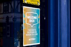 Betfred welcome back sign