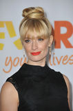 Beth Behrs. LOS ANGELES, CA - DECEMBER 8, 2013: 2 Broke Girls star Beth Behrs at the 15th Anniversary TrevorLIVE gala to benefit the Trevor Project at the Stock Images