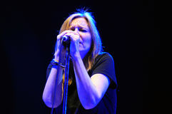 Beth Gibbons di Portishead esegue al festival di musica 2011 dell'USCITA Fotografia Stock Libera da Diritti