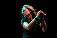 Beth Gibbons, lead singer of Portishead (trip hop band), performs at FIB Festival Stock Photography