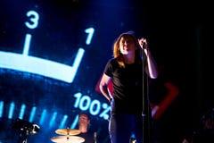 Beth Gibbons, singer of Portishead trip hop band, performs at FIB Festival. BENICASSIM, SPAIN - JUL 19: Beth Gibbons, singer of Portishead trip hop band Stock Images