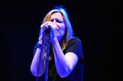 Beth Gibbons van Portishead voert bij UITGANG de Muziekfestival uit van 2011 Royalty-vrije Stock Foto