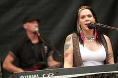 Beth Hart. American singer Beth Hart performed at Nibe Festival 2011, an annual music festival located in northern Jutland. The festival began 27 years ago and stock photo