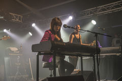 Beth Hart plays keyboards and sings (in the background PJ Barth) Stock Photo