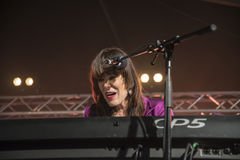 Beth Hart sings and plays keyboards Stock Image