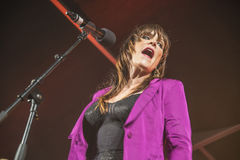 Beth hart, usa, notodden blues festival. Beth Hart and hers band on stage at Hovig Hangar. Each year the first week in August held a major blues festival in Stock Image