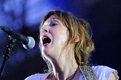 Beth Orton performs at Poble Espanyol Royalty Free Stock Photos