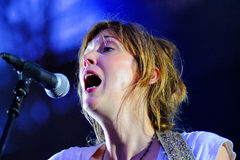 Beth Orton (singer) concert at Poble Espanyol. BARCELONA - JULY 27: Beth Orton (singer) concert at Poble Espanyol on July 27, 2012 in Barcelona, Spain Stock Photos