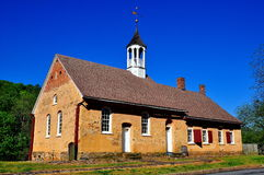 Bethabara, NC: 1788 Gemeinhaus Moravian Church Royalty Free Stock Photo