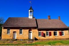 Bethabara, NC: 1788 Gemeinhaus Moravian Church Stock Photos