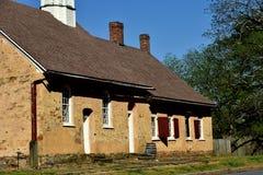 Bethabara, NC: Iglesia 1788 de Gemeinhaus Moravian Fotos de archivo