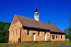 Bethabara, NC: Kirche 1788 Gemeinhaus Moravian Lizenzfreies Stockfoto