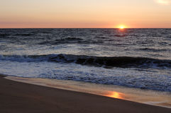 Bethany Beach Delaware. Sunrise over the Atlantic Ocean Royalty Free Stock Photo