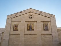 Bethany Church in commemorating the home of Mari, Martha and Lazarus, Jesus ` friends as well as the tomb of Lazarus. Israel royalty free stock image