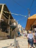 Bethany, Israel July 14, 2015 Escaliers et allée menant au t Photos libres de droits