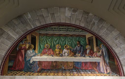 Bethany, Israel July 14, 2015 r .: Mosaic. Bethany Church in com Royalty Free Stock Images