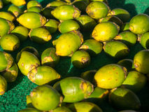 Bethel. Dekai, Indonesia - January 21, 2015: Fruits  (the name of the fruit is Bethel) on a  stall. Used as a stimulant in Indonesia Stock Photo